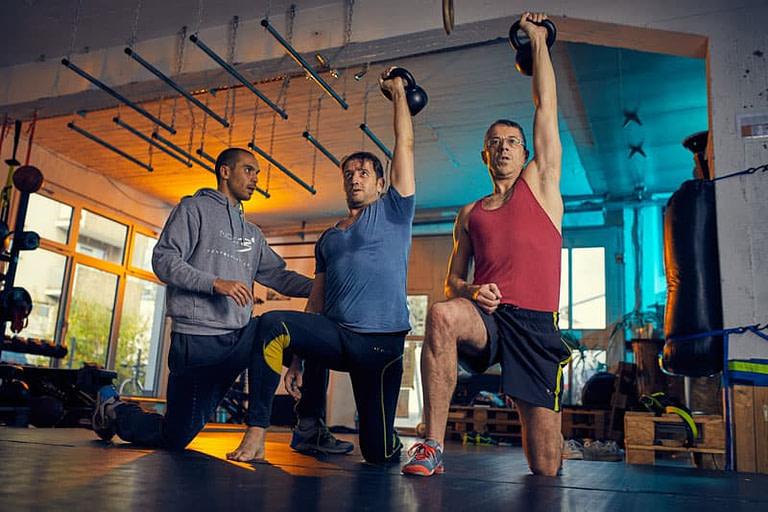 Personal Training mit zwei Personen
